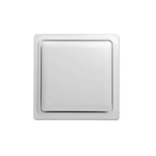 Bad-lüfter Grill (ZSQAW Feuchtigkeitssensor-Abluftventilator, leiser Badezimmer-Abluftventilator mit justierbarem Feuchtigkeitssensor-Weiß-Grill)