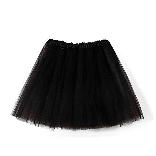Tüllrock 50er Kurz Ballet 3 Layers Tanzkleid Zubehör für Frauen Mädchen Mini Skater Tutu Rock Erwachsene Ballettrock Tüllrock für Party Halloween Kostüme Tanzen Viele Farbe ()