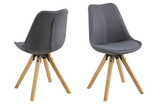 Eine Marke von Amazon - Movian Arendsee - Set aus 2 Esszimmerstühlen, 55 x 55 x 85cm (L x B x H), Dunkelgrau