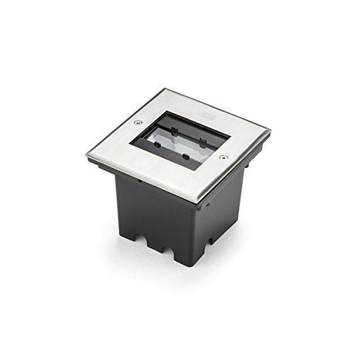 Gnosjö Konstsmide Flut- & Spotbeleuchtung, Stahl, Integriert, silbergrau, 14.5 x 13.5 x 11.5 cm