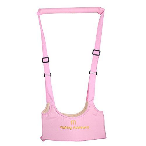 EROSPA® Lauf-Lern-Hilfe Babys Kleinkinder Sicherheitsgurt Gürtel - Erste Schritte - Laufen lernen - 2 Farben (Pink)