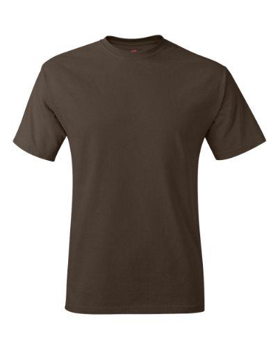 Hanes TAGLESS® T-Shirt 2XL Brown (T-shirt Hanes Tagless Xxl)