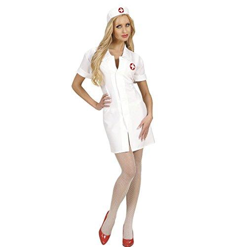 Widmann 72022 - Kostüm Krankenschwester, Kleid und Haube, Gröߟe M (Kittel Halloween-kostüm)