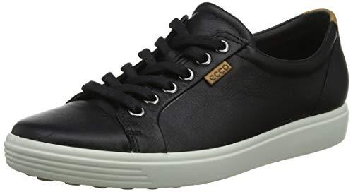 Ecco Damen SOFT7W Sneaker, Schwarz (BLACK 1001), 38 EU