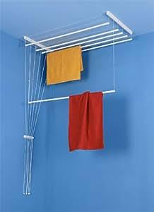 s choir linge suspendu au plafond etend 39 mieux 5 barres 49 cm x 130 cm capacit d 39 tendage. Black Bedroom Furniture Sets. Home Design Ideas