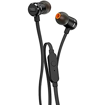 1952e482320 JBL T290 Pure Bass All Metal in-Ear Headphones with Mic (Black): Buy ...