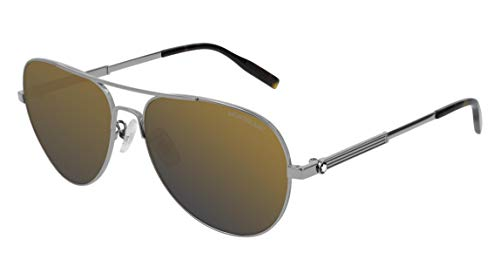 Sonnenbrillen Mont Blanc MB0027S RUTHENIUM/GOLD Herrenbrillen