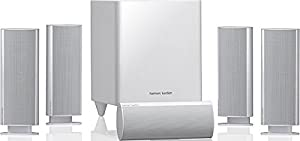 Harman/Kardon HKTS 30WQ Complete 5.1-Channel Surround Sound Home Theatre Speaker System, Including 4 Dual Midrange Satellite Speakers, 1 Center Speaker and a 200-Watt Subwoofer_P