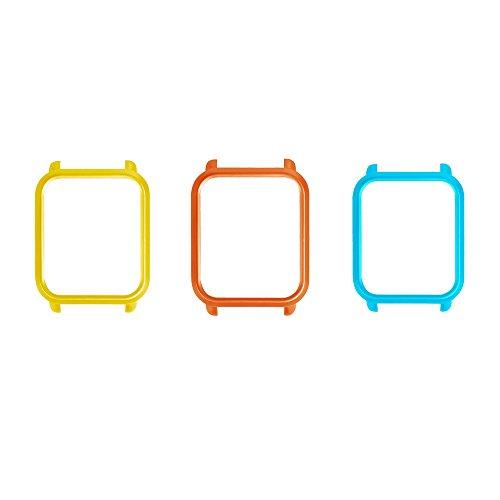 Fossrn Protector Case para Xiaomi Huami Amazfit Bip Youth Watch (3PC/ Azul+Naranja+Amarillo)