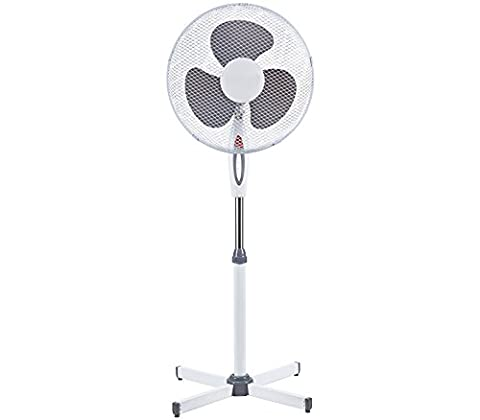 Ventilateur sur pied oscillant - 3 vitesses - hauteur ajustable