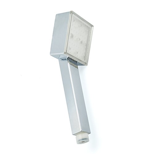 LED Duschkopf shower head Brausekopf mit LED Beleuchtung automatischem Farbwechsler durch Wasserkraft (Head-dusche-adapter)
