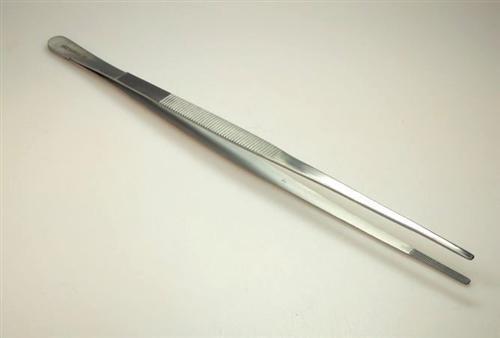 2x Pinzette gerade, Länge 30 cm, Brennträger-Pinzette oder Futter-Pinzette für Aquarium oder Terrarium Dental Zahntechnik
