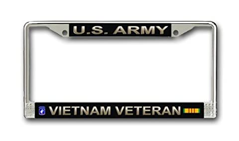 US Army 173rd Airborne Division Vietnam Veteran License Plate Frame by Army License Plate Frames