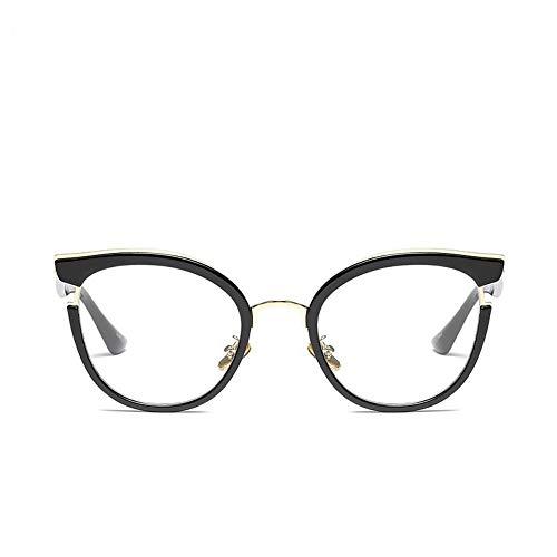 MoHHoM Sonnenbrille Fashion Cat Eye Lesen Brillen Optische Gläser Frames Neue Vintage Brille Frauen Brand Design, Klare Gläser Gläser Uv 400 Schwarz Klar