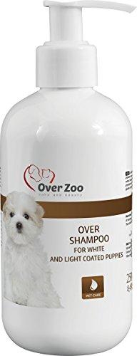 Welpen-Shampoo für weiße Hunde - Spezial-Shampoo für Welpen mit weißen Fell - salzfreies Hundeshampoo mit Kaschmirwolle-Proteinen für empfindliche Haut und geschmeidiges Fell (250ml Pumpflasche) (Salz Wasser Conditioner)