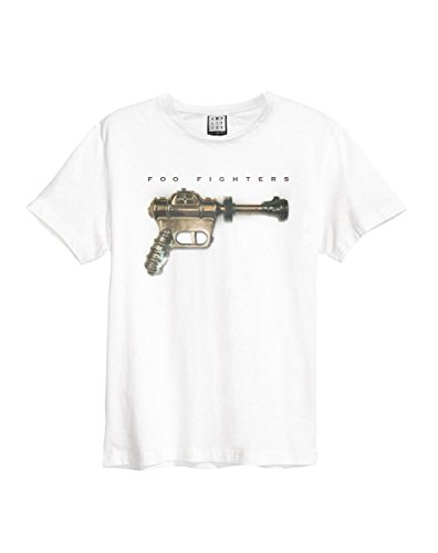 Amplified foo fighters-ray gun, t-shirt uomo, white (white wh), s