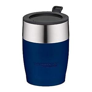 ThermoCafé Thermotasse DeskCup 250ml, Kaffeetasse mit Henkel 4064.235.035 Bürotasse Kunststoff grau, passt direkt unter…