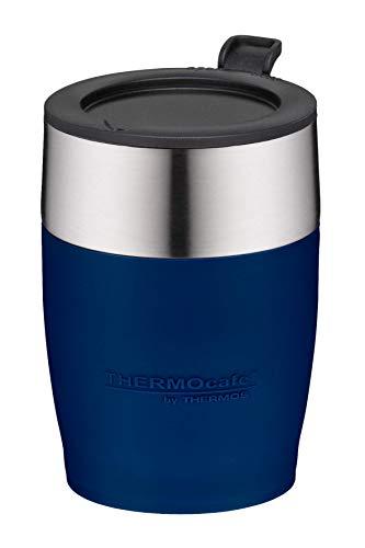 ThermoCafé by THERMOS 4064.256.025 Kaffeetasse DeskCup, Edelstahl Blau 0,25 l, passend unter viele Kaffeevollautomaten, BPA-Free