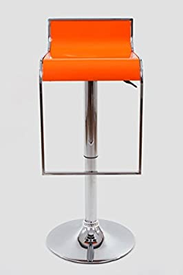 Barstools orange Plastic Swivel height adjustable - low-cost UK light shop.