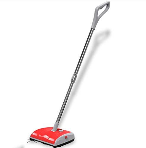 Yuhaijie aspirapolvere per uso domestico, alta potenza senza fili a due ruote, pulitrice elettrica, pulizia potente, spazzatrice a spinta manuale, plastica, 23cm * 26cm * 104cm