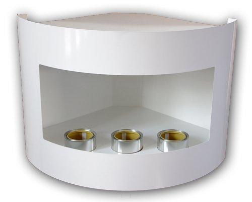 Gel-y-etanol-chimenea-esquina-Riviera-chimenea-de-pared-chimenea-de-acero-pintado-al-polvo-blanco