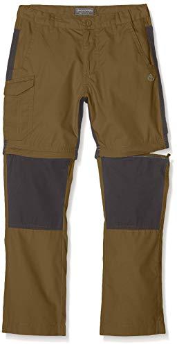 Craghoppers Kinder Kiwi Convertible Hose Dark Moss, 116 - Cargo Convertible Shorts