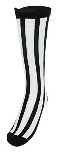 Eozy Chaussette Genou Jambe Fille Rayure Bas Longue Cuissarde Haut Sock