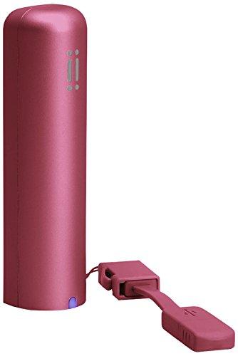 Aiino Power Bank Batteria Esterna Caricabatteria Portatile 2600 Mah per Smartphone Cellulare Apple iPhone, Samsung Galaxy, Rosso