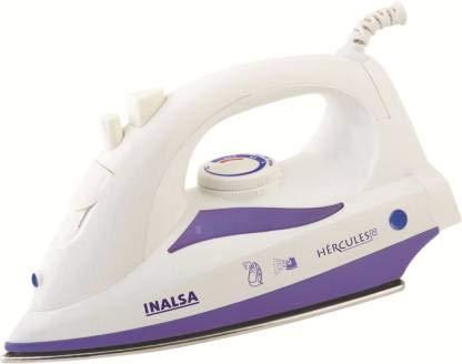 Inalsa Hercules 1400-Watt Steam Iron with 2 Year Warranty (White/Purple)