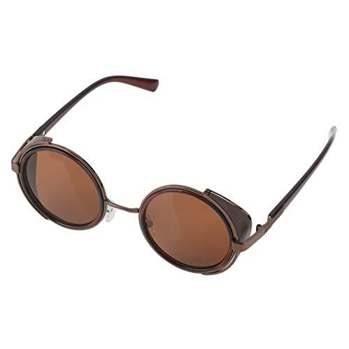 Elviray Radfahren Sonnenbrille Runde Brille Cyber   Fahrradbrille Vintage Retro Style Blinder ABS Kunststoff und Metalllegierung Rahmen (Blinde Sonnenbrillen)