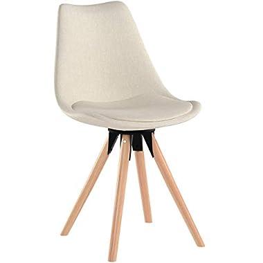 MCTECH® 2X Stuhl Esszimmerstühle Esszimmerstuhl Stuhlgruppe Konferenzstuhl Küchenstuhl Armlehne Büro mit Massivholz Eiche Bein (Type A, Grau)