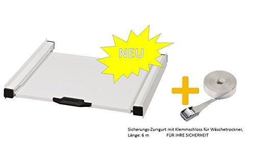 Zwischenbaurahmen-Waschsule-fr-Waschmaschine-und-Trockner-mit-Auszug-Aktion-Sicherungs-Zurrgurt-mit-Klemmschloss-fr-Wschetrockner-Lnge-6-m-FR-IHRE-SICHERHEIT