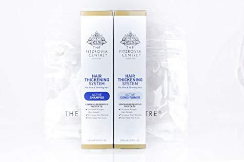 Best Hair Growth Shampoo & Conditioner Set, inkl. Reisetasche, The Fitzrovia Center - Haarausfall & Haarwachstum stimulierende Formel - mit Redensyl bewährten Ergebnissen, Vs Minoxidil, 2 x 250 ml