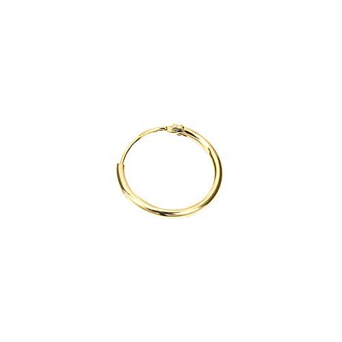 NKlaus EINZEL 750 gelb GOLD gestempelt Creole Ohrring Ohrhänger Ohrstecker 11mm 1755