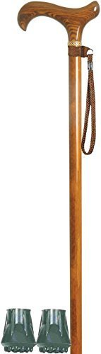 by-classic-canes-ladies-hardwood-derby-cherry-stain-with-filigree-collar-quality-walking-stick-two-s