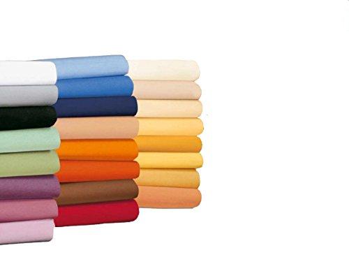 badtex24 Spannbettlaken 90 100 x 200 Spannbetttuch Bettlaken Jersey 100% Baumwolle 20 Farben Weiß 90x190-100x200cm