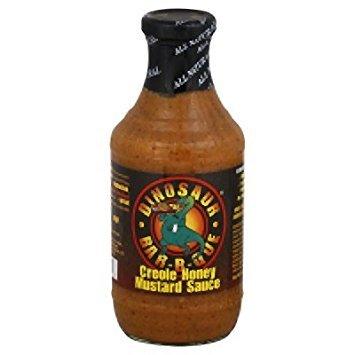 Dinosaur Bbq-sauce (Dinosaur Bar-B-Que Creole Honey Mustard sauce- 19oz. Net weight bottle)