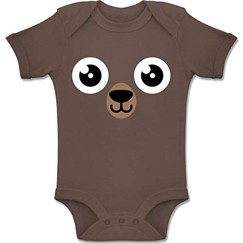 Shirtracer Karneval und Fasching Baby - Bär Karneval Kostüm - 3-6 Monate - Braun - BZ10 - Baby Body Kurzarm Jungen Mädchen