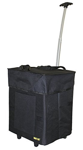 bigger-smart-cart-black-multipurpose-rolling-collapsible-utility-cart-basket-by-smart-cart