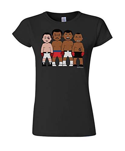 VIPWees Damen Boxing Heavyweights Champions Karikatur-T-Shirt Heavyweight T-shirt Rugby