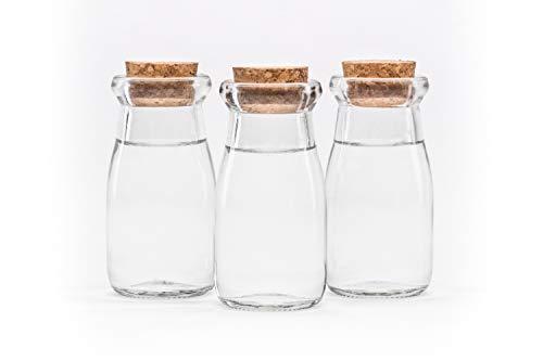 12 Stück 100 ml Gewürzgläser Glasbehälter, Vorratsglas,Vorratsdose Bonbonglas Glasdosen Glas-Behälter mit Verschluss mit Korken rund 0,1 liter l von slkfactory.
