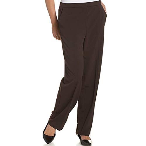 Damen Freizeithose Slim Haremshose,Einfarbige Hosen der Art und Weisehohen Taille Berufshosen Fashion Solid Lange Hosen Professionelle weibliche Hosen S-3XL - Twill Womens Cargo Pocket Hosen