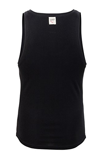 Dsquared² Classic Knit Herren Unterwäsche, Tanktop, Farbe Weiß, Schwarz, Grau, Shirt Top Unterhemd JERSEY COTTON STRETCH Schwarz