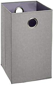 Amazon Brand - Solimo Foldable Cotton Laundry Hamper, Grey