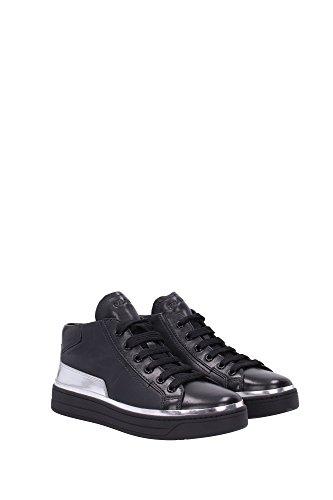 3T6056NERO Prada Sneakers Femme Cuir Noir Noir