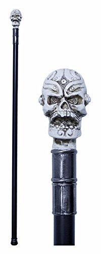 Totenkopf Gehstock Spazierstock - 90 cm - Tolles Zubehör zu Ihrem Kostüm als Voodoo Priester, Pirat oder Maya Gottkönig zu Halloween, Fasching und (Voodoo Zubehör)