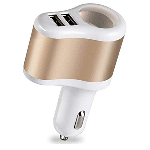 Fliyeong 1 stücke 3 in 1 multifunktions auto zigarettenanzünder dual usb ports schnell auto ladegerät adapter power splitter für iphone/ipad/samsung/gps etc (gelegentliche farbe) (Auto-power-splitter)