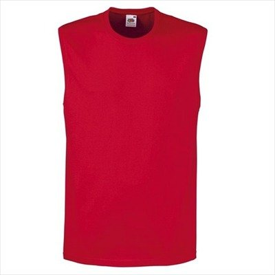 Fruit of the Loom - Sleeveless Shirt 'Tanktop' Red