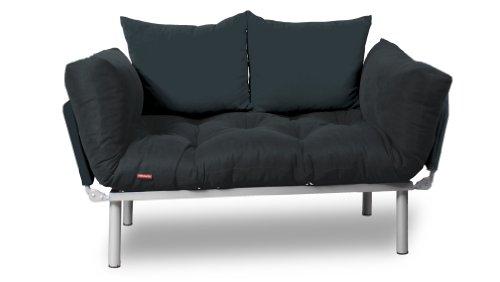 EasySitz Schlafsofa Schlafsofa Für Ein Zum Einer Sofa In Unter Schlafsessel  U0027u0027 Er Mein Futon 2 Sitzer Kissen Futonsofa 140 X 210 Schlaffunktion (Dunker  Grau ...