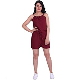 41ce0cfb92 Dare Above All Casual Sleeveless Women s Maroon Jumpsuit